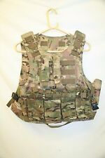 Multicam MTP/BTP MOLLE Lightweight Tactical Assault Vest/Carrier with Pouches