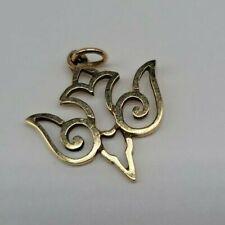 "1"" RETIRED James Avery 14k Yellow Gold Descending Dove Charm Pendant Uncut Ring"