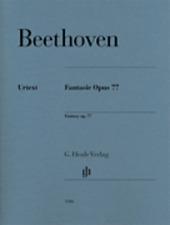 Henle Urtext Beethoven Fantasy Op. 77 Piano Solo