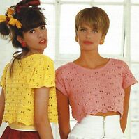 96c3d139178ba1 KNITTING PATTERN - WENDY WISP- OPEN KNIT SWEATER - TO FIT 26 - 36 ...
