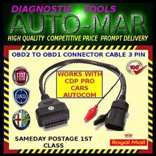 LANCIA / FIAT / ALFA ROMEO 3 PIN OBD1 ADAPTOR DIAGNOSTIC CABLE