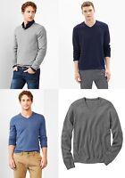 GAP Men Cotton Cashmere V-neck Sweater S,M,L,XL,2XL,3XL,MT,LT,XLT,2XLT,3XLT NEW!