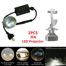 "2pcs 12V Car SUV Headlight 60W 1.5"" Mini H4 LED Projector Lens Lamp 6000k White"