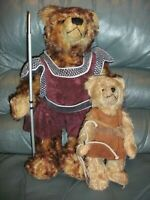 HERMANN SPIELWAREN Bear David and Goliath Ltd Edit mohair tilt growler [2 items]