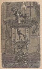 A4584 Acquario da sala - Incisione - Stampa Antica del 1887