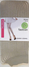 Hudson Medium Size Fashion Ribbed Leggings in Beige high cotton content