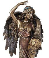 "Veronese 12"" Fortuna Roman Angel Goddess of Fortune & Luck Statue Bronze Finish"