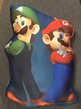 "Super Cute Handmade Mario & Luigi Accent - Throw Pillow 19"" x 16"""