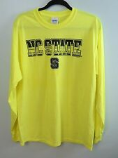 North Carolina NC State Wolfpack Safety Green Long Sleeve T-Shirt Size S NWT