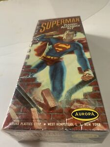 Mint Sealed Superman Aurora Model Kit From 1963 Perfect Condition!