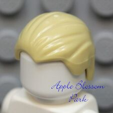 NEW Lego Minifig Combed back TAN HAIR - Slicked w/Widows Peak Male Boy Head Gear