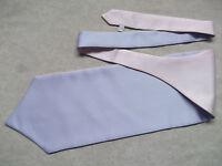 Ascot Cravat MENS Wedding Scrunchie Ruche One Size LILAC & ROSE PINK