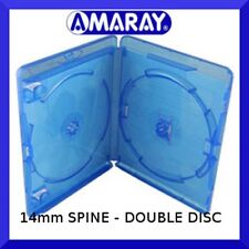 14mm AMARAY Replacement Blu-Ray Case Double (holds 2 discs) - NEW