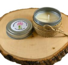 Verbena Lemongrass Candle Soy Wax in Metal Tin Handmade IN USA Aromatherapy(4oz)