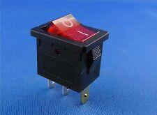 Einbau Wippschalter 19 x 13 mm, rote Wippe beleuchtet, schwarz