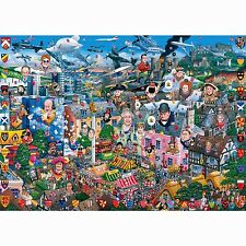 GIBSONS I LOVE GREAT BRITAIN 1000 PIECE HUMOUROUS MIKE JUPP JIGSAW PUZZLE