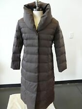 ESPRIT Long Brown 65% DOWN Fill Puffer Coat Jacket w/ Large puffy Collar Size L