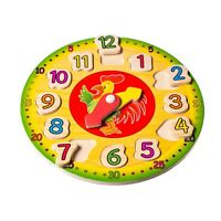 Eliiti Wooden Clock Puzzle Educational Toy for Kids 3 to 6 Years Old