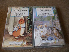 2 x Beatrix Potter VHS Videos, Peter Rabbit, Tom Kitten and Jemima Puddle Duck