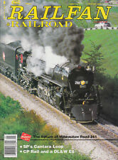 RAILFAN & RAILROAD 1/94 CP RAIL & DL&W E8, MILWAUKEE ROAD 261, SP's CANTARA LOOP