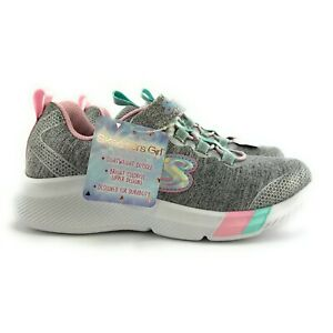 Skechers Youth Girl's Dreamy Lites Light Gray Athletic Shoes 302021 Size 1 (GS)