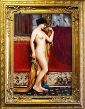 Künstlerische Art Deco-Malerei mit Akt- & Erotik-Motiv als Original der Zeit