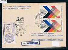 97211) LH So-LP 40 J. SA Service Stuttgart-Rio 3.2.74, Map Ship Post, MEF