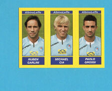 PANINI CALCIATORI 2009-2010-Figurina n.497-GARLINI+CIA+GROSSI-ALBINOLEFFE-NEW