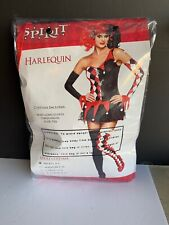 Harlequin Costume Halloween By Spirit Adult Small - Preowned - Harley Quinn
