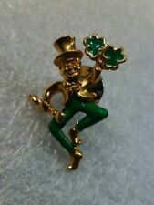 Avon Leprechaun Pin Green Tone and Green Enamel
