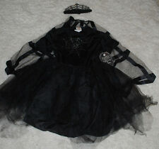 Pottery Barn Teen Halloween Costume Spider Fairy Dress Cape Headpiece 11/12 YRS