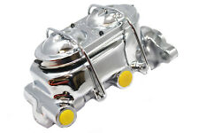 "GM Chevy Chrome Master Cylinder Corvette Style 1-1/8"" Bore Hot Pro Street Rod"