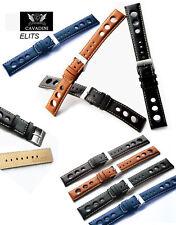 Vera-Pelle Orologi Bracciale Designer-sezione 24 mm, acciaio Schl. Iesse, Blu