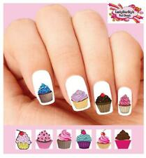 Waterslide Nail Decals Set of 20 - Colorful Cupcakes Assorted