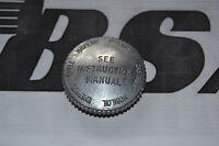 BSA SCREW ON SCRIPTED OIL TANK CAP C10 C11 C15 B31 B33 A7 A10 65-8500 UK MADE