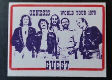 GENESIS 1978 WORLD Tour pass guest