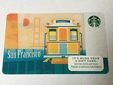 2015 Starbucks Gift Card San Francisco Cable Car Golden Gate Bridge