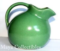 Vintage Matte Green Unsigned Ball Pitcher Teco Style