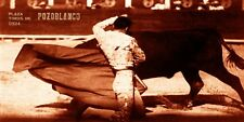 "Bullfighting Vintage Poster #42 - Canvas Art Poster 12""x 24"