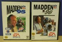 John Madden NFL Football 95 + 96 EA - Sega Genesis Working Tested - 2 Game Lot