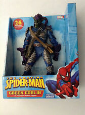 "AMAZING SPIDER-MAN 12"" GREEN GOBLIN POSEABLE FIGURE NEW MARVEL TOYBIZ,26 POA MIB"
