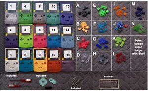 Game Boy Color GBC Shell- Chikorita Plastic Lens -Choose Shell & Buttons Color!