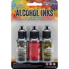 Tim Holtz Alcohol Ink .5oz 3/Pkg Tuscan Garden-Red Peppr/Mushroom/Oregano NEW #1
