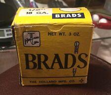 "18 GA. 1/2"" Brad Nails Vintage 3oz Pack Holland Mfg. Co."