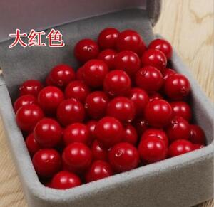 6pcs 8-12mm Coral Red Shell Pearl  Half Drilled Hole Round Earring Beads AAA