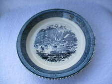 New listing Vintage Royal China Jeannette Currier & Ives Ice Skating Scene Pie Plate