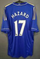 EDEN HAZARD #17 ADIDAS FC CHELSEA 2012/2013 FOOTBALL SOCCER SHIRT JERSEY SIZE L