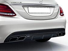 Mercedes W205 S205 CLASE C AMG C63 Trasero Difusor Y NOCHE Tubo Paquete