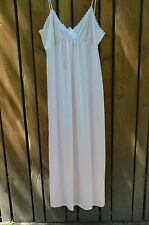 Vintage Vandemere Pink Chiffon Nylon Night Gown Negligee Spagetti Straps Medium