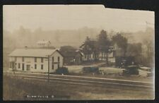 RP Postcard  EARLY 1900's SUMMITVILLE OHIO/OH RAILROAD TRAIN DEPOT STATION 1910s